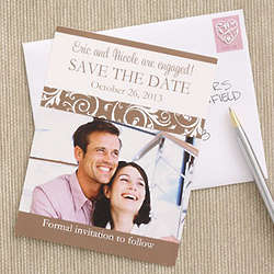 Engagement Photo Save The Date Wedding Magnets