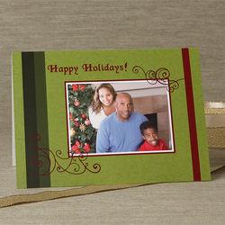 Happy Holidays Personalized Single Photo Christmas Cards