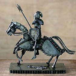 Gallant Knight Auto Parts Sculpture