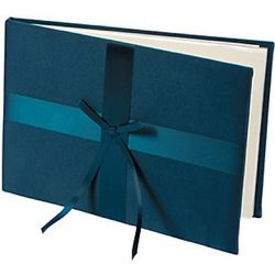 Navy Blue Wedding Guest Book