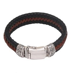 Lineage Men's Leather Wristband Bracelet