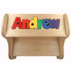 Personalized Puzzle Pieces 2 Tier Stool