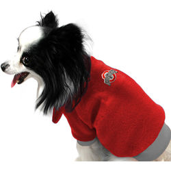 Ohio State Buckeyes Scarlet Dog Fleece Pullover