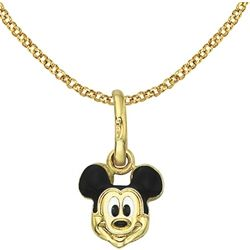14k Gold Mickey Mouse Necklace for Kids
