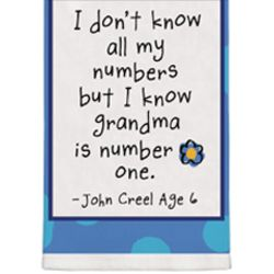 I Know Grandma Is Number One Card Kitchen Towel