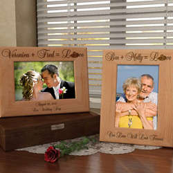 Personalized Perfect Equation Wooden Picture Frame