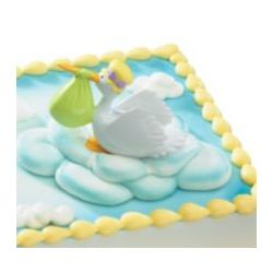 Special Delivery Stork Cake Decoration