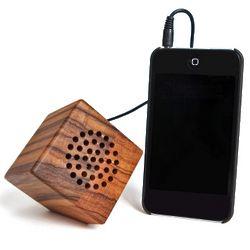 Zebra Wood USB Portable Speaker
