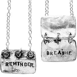 Reminder Breathe Sterling Silver Necklace