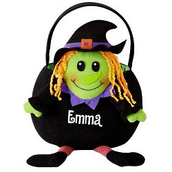 Witch Personalized Leggy Halloween Basket