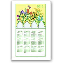 2013 Wildflower Calendar Towel