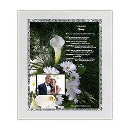 Personalized Framed Wedding Poem for Daughter