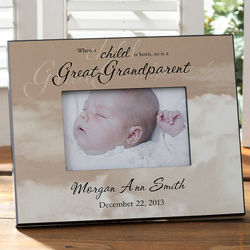 A Great-Grandparent is Born Picture Frame