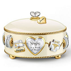 Nurse's Tender Loving Care Personalized Music Box