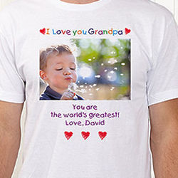 Loving Him Personalized Photo T-Shirt