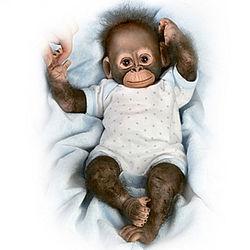 Baby Zachary Poseable Baby Monkey Doll