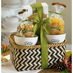 Soup and Stoneware Bowls Gift Basket