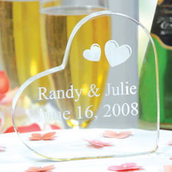 Customized Heart Wedding Cake Topper