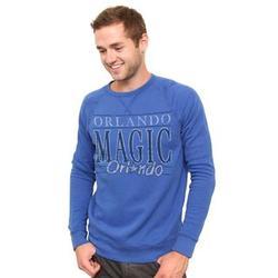 Men's Vintage Orlando Magic Solid Long Sleeve Fleece Shirt