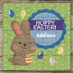 Kid's Personalized Hoppy Easter Puzzle