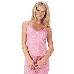 Oh-So-Soft Pink Polka Dot Cami Pajamas