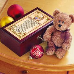 Personalized Christmas Memory Bear With Keepsake Box