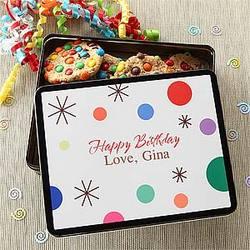 Birthday Treats Personalized Gift Tin