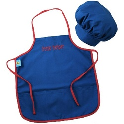 Doodlebugz Kids Personalized Chef's Apron Set in Blue