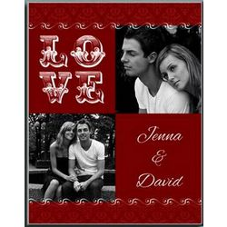Personalized Romantic Love Photo Panel