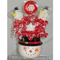 Snowman Mini Lollipop Bouquet