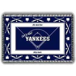 Baseball Team Personalized Tapestry Throw