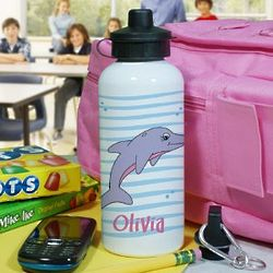 Personalized Dolphin Water Bottle