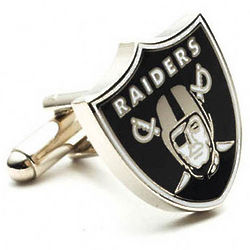 Oakland Raiders Enamel Cufflinks
