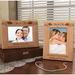 Personalized You and Me Wooden Picture Frame