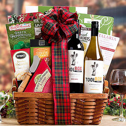 Tool Box Wine Company Holiday Duet Gift Basket