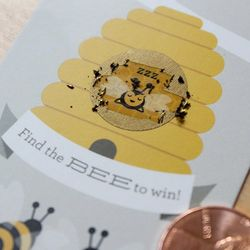 Baby Shower Beehive Scratch Cards Game