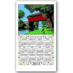 2013 Country Bridge Calendar Towel