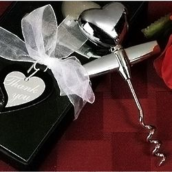 Elegant Chrome Solid Heart Wine Opener