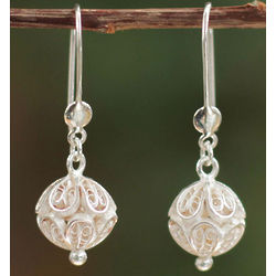 Andean World Sterling Silver Filigree Earrings