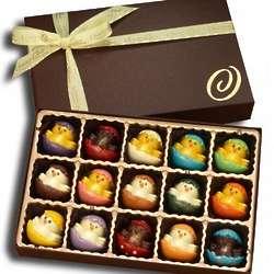 Easter Chicks Chocolate Truffles Box