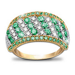 Rare Beauty Emerald and Diamond Eternity Ring