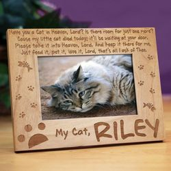 Have You a Cat in Heaven Wood Picture Frame
