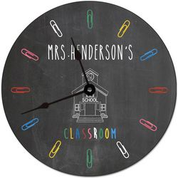 Teacher's Classroom Personalized Wall Clock