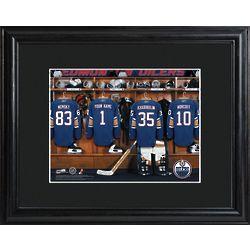 Edmonton Oilers Locker Room Personalized Print
