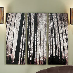 Tree Print Canvas Art Set