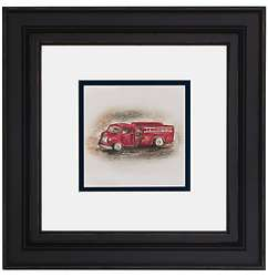 "Fire Truck 12"" Framed Print"