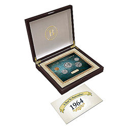 Personalized Birth Year US Coin Set with Display Box