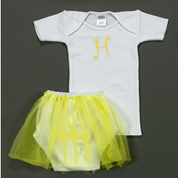 Baby Girl Personalized Tutu and Tee Set