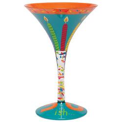 30ish Hand-Painted Martini Glass