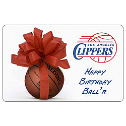 Birthday Gift Ideas Los Angeles On NBA Clippers Card